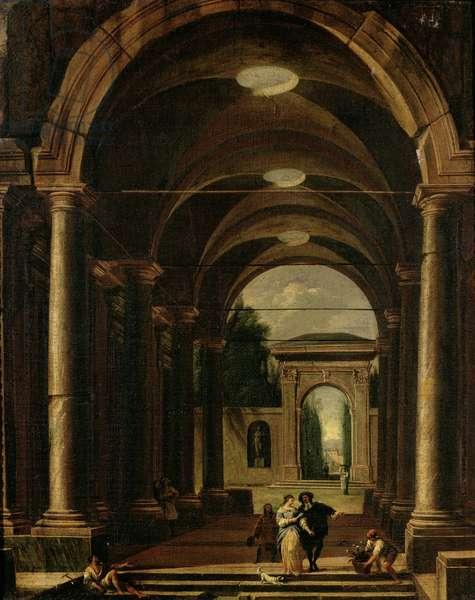 Architectural Capriccio (oil on canvas)