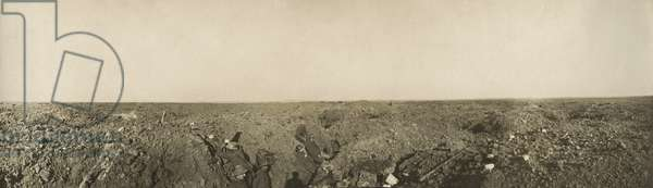 Fify yards from Regina trench, Somme, France, 1916 (b/w photo)