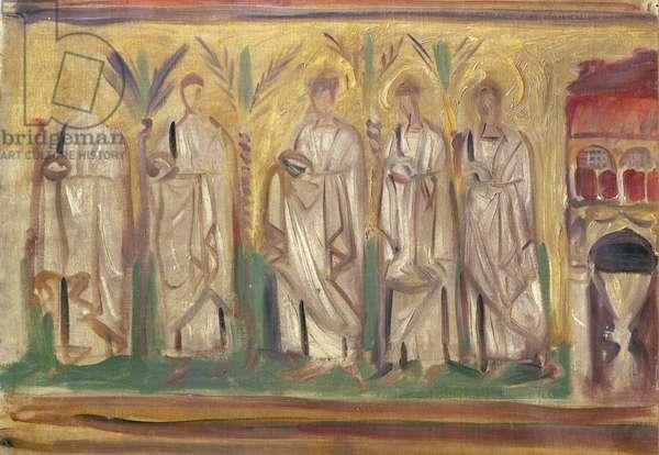 Sketch of a mosaic at Ravenna, 1898