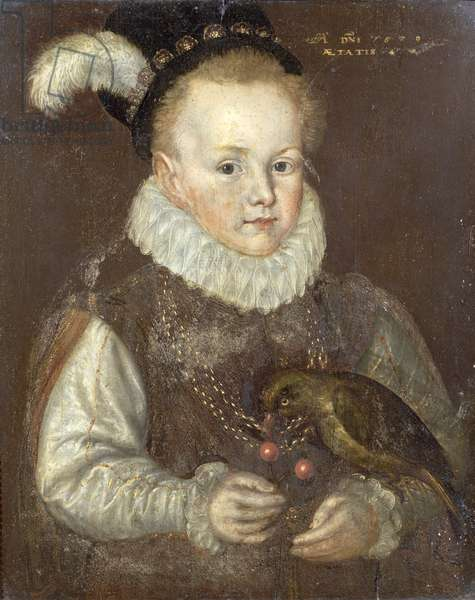 Portrait of a child aged 4 years, 1572
