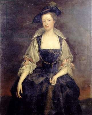 Portrait of Margaret, Countess of Orford in a Rubenesque Costume (oil on canvas)