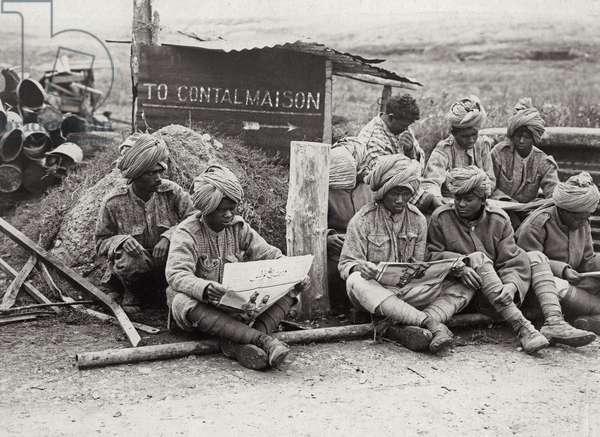 To Contalmaison, 1914-18 (b/w photo)