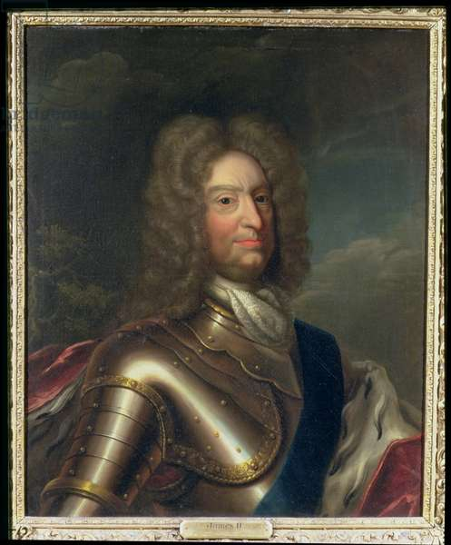 Portrait of James II (1633-1701) (oil on canvas)