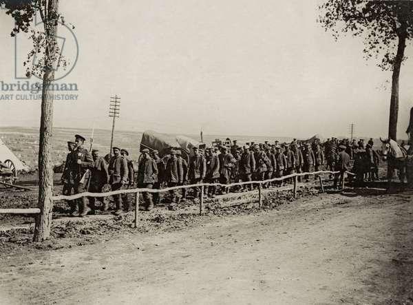 A batch of prisoners taken at Ginchy, France, September 1916 (b/w photo)