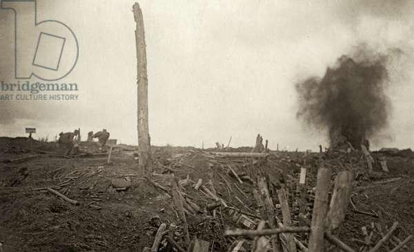 Battle of Menin Road, September 1917 (b/w photo)