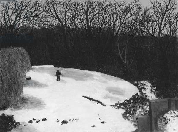 The Brett in Winter, 1982 (oil on board)