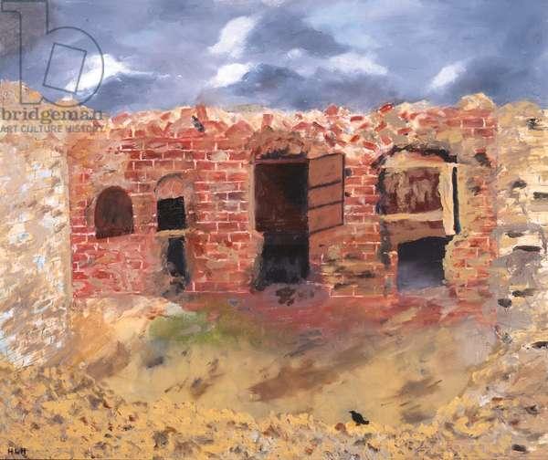 Ancient Brick Kiln at Shelley, 1992 (oil on board)