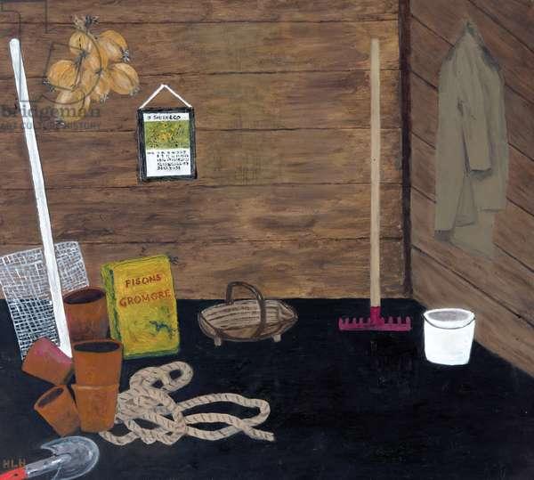 Inside the Garden Shed, 1996 (oil on board)