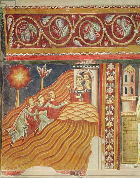The Emperor sends messengers to call Pope Silvester, west wall of the Chapel of San Silvestro, 1246 (fresco)