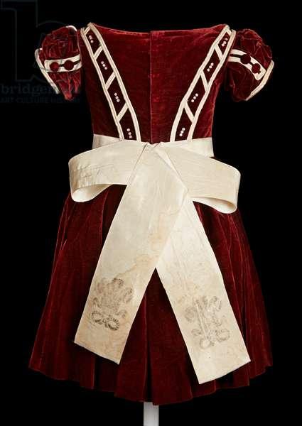 Child's commemorative dress, 1863