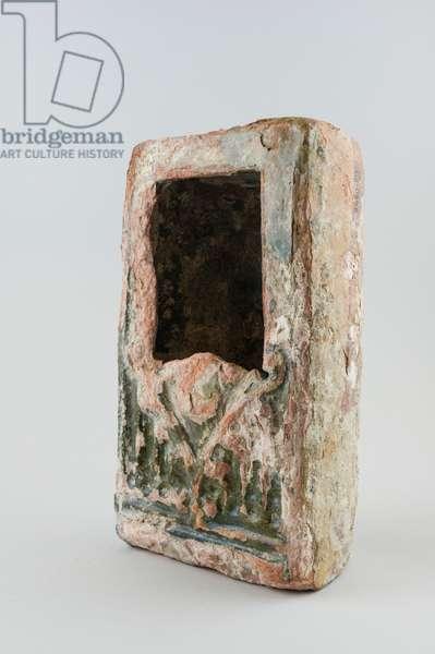 Stove tile, 1350-1450 (ceramic)