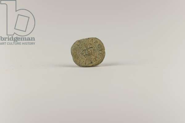 Coin, c.1625-49 (copper alloy)