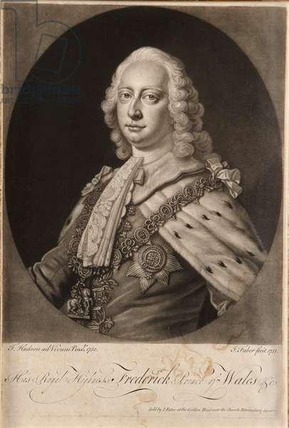 Frederick, Prince of Wales, 1750 (mezzotint)