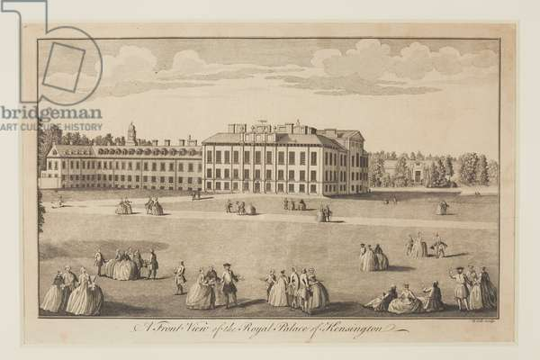 'A Front View of the Royal Palace of Kensington',