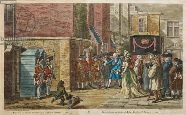 A View of the Garden Entrance of St James's Palace, 1786 (coloured engraving)