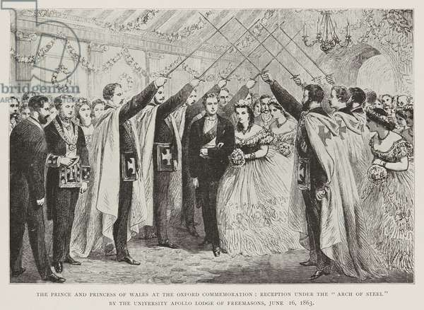 The Prince and Princess of Wales at the Oxford Commemoration, 1863