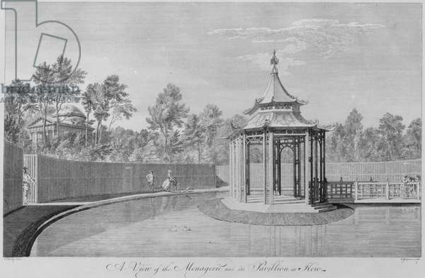 The Menagerie and its Pavilion, engraved by Charles Grignion, 1763 (engraving)