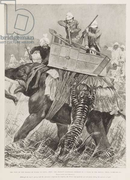 Edward, Prince of Wales hunting in India, 1876