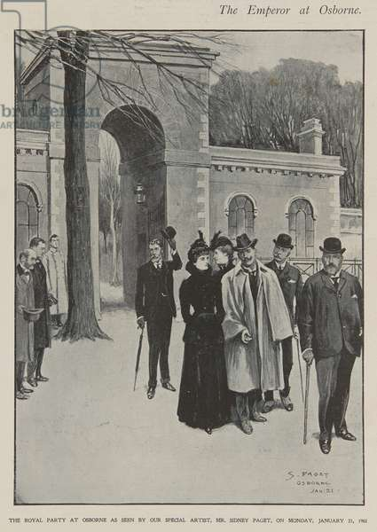 The Royal Party at Osborne, 1901