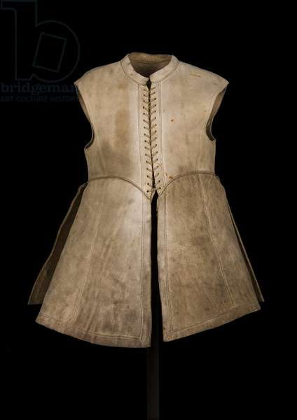 Jerkin associated with King Charles I, c.1640-45 (leather) (see also 2625037)