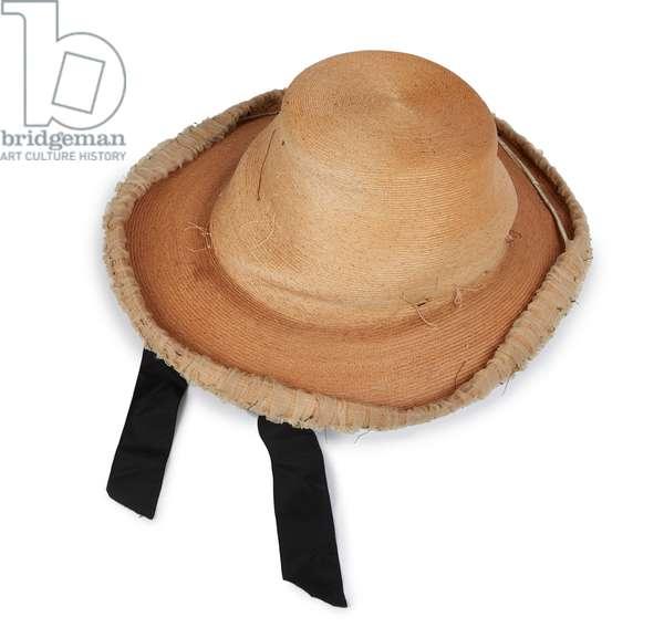 Straw hat worn by Queen Victoria, Robert Heath Ltd, 1880s