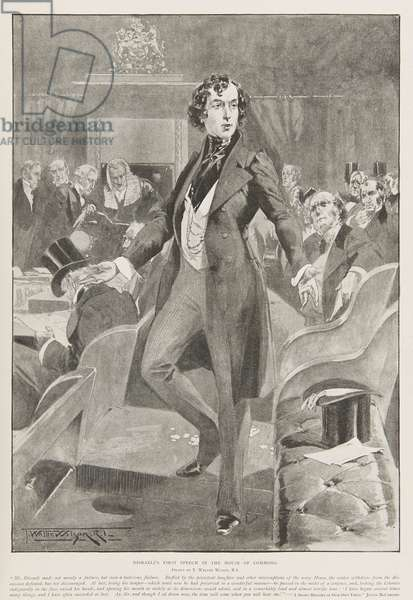 Disraeli's first speech in the House of Commons