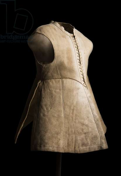Jerkin associated with King Charles I, c.1640-45 (leather) (see also 2625036)