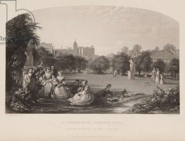 A Summer Noon: Hampton Court (engraving)