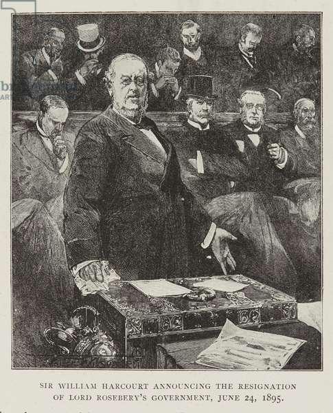 Sir William Harcourt in Parliament, 1895