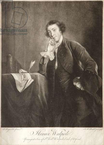 Horace Walpole, 1757 (mezzotint)