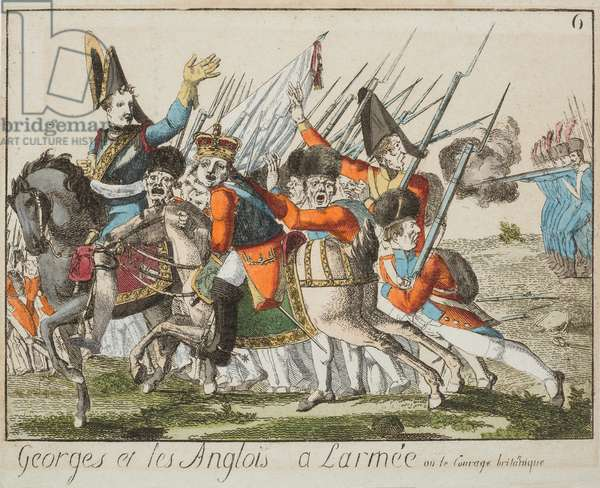 Georges et les Anglois a l'armee, c.1803-4 (coloured engraving)