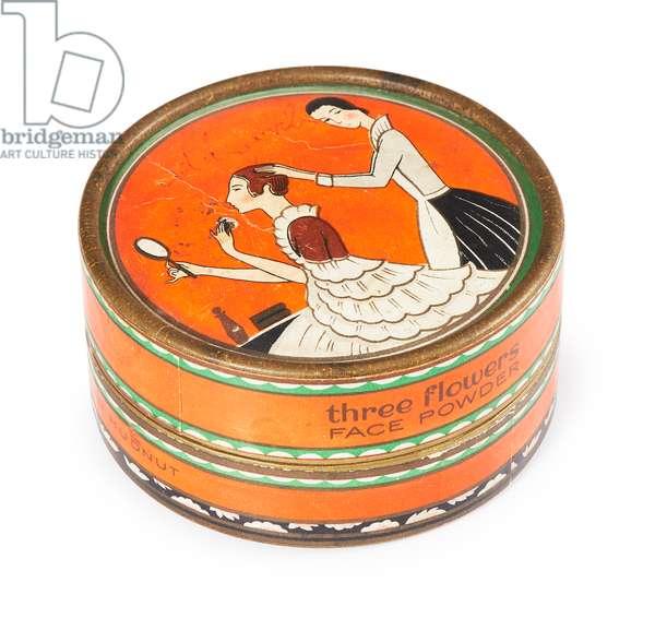 Face powder box, 1920-30