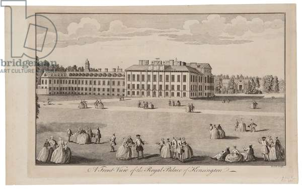 A Front View of the Royal Palace of Kensington, 1770 (engraving)