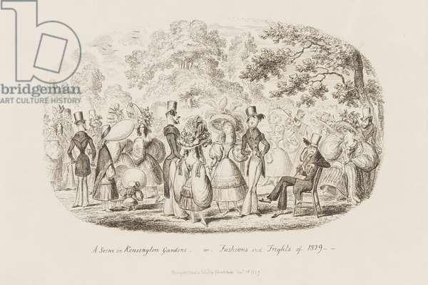 A Scene in Kensington Gardens, 1829