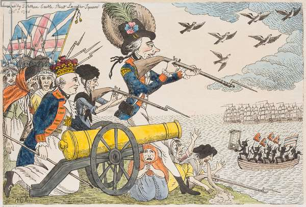 Prepared for a French Invasion, 1796 (coloured engraving)