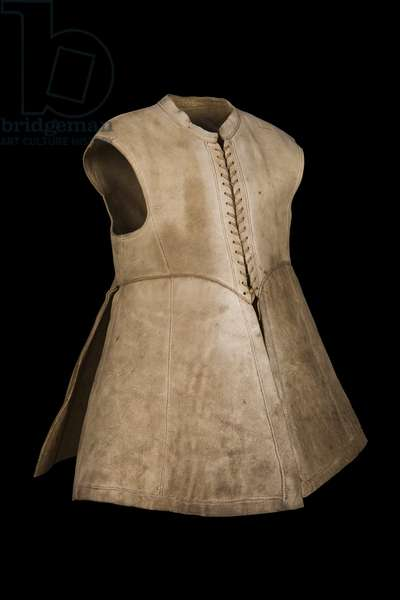 Leather jerkin associated with King Charles I, 1640-45 (leather)