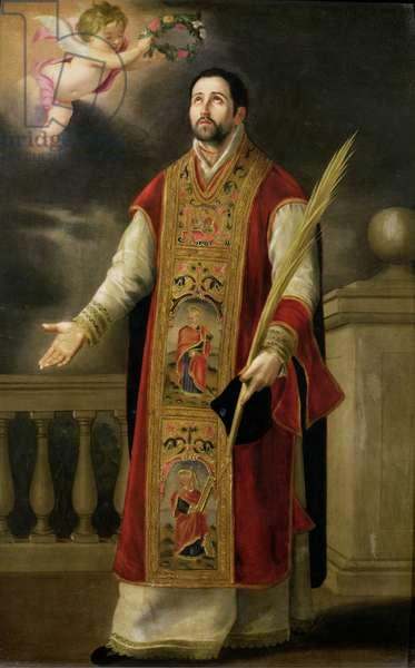 St. Roderick of Cordoba (oil on porcelain)
