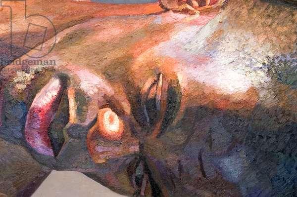 Giant Head Ben, 2001 (oil on canvas)