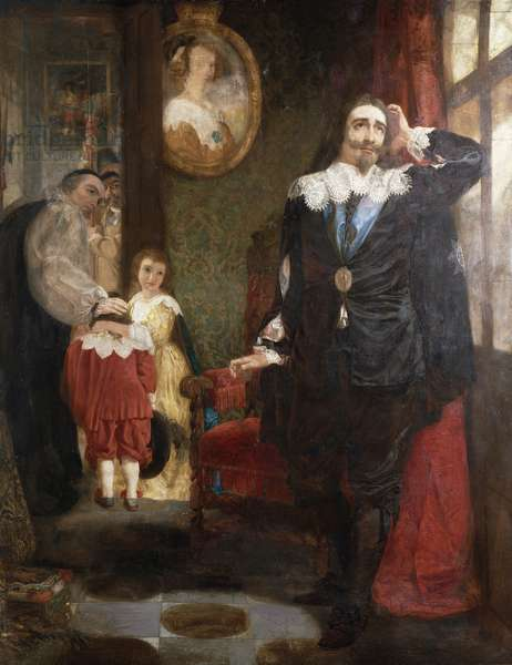 Charles I bidding goodbye to his children (oil on canvas)