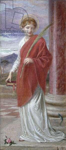 Santa Bibliana (gouache)