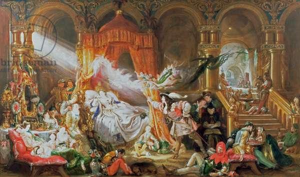The Sleeping Beauty, 1842 (oil on canvas)