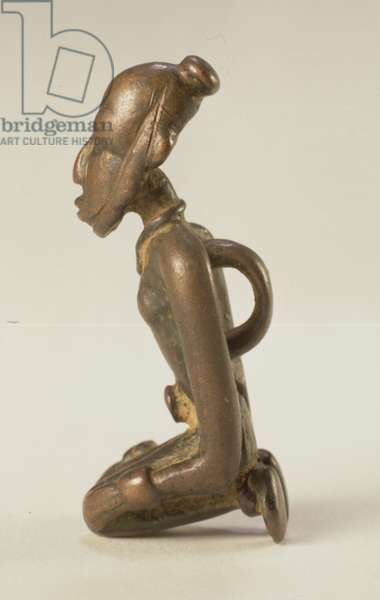 Kneeling figure, Djenne/Dogon, Mali (bronze)