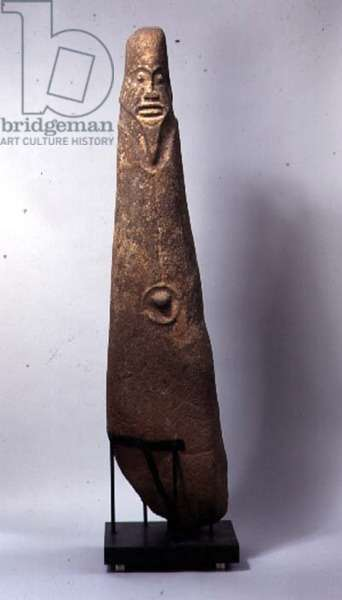 Carved monolith (atal), Bakor, Ekoi, Cross River, Nigeria, possibly 16th century (basalt)