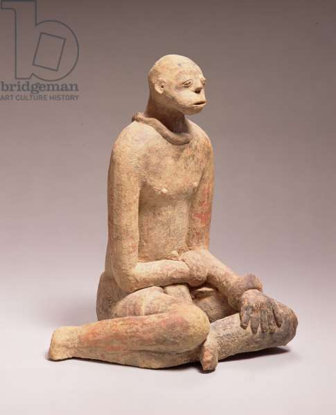 Seated figure, region of Segou, Mali (terracotta)