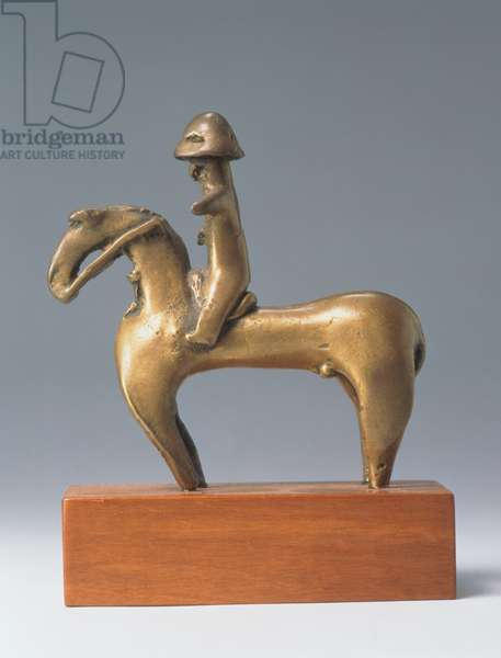 Sao horse and rider, from Chad, c.16th century (bronze)