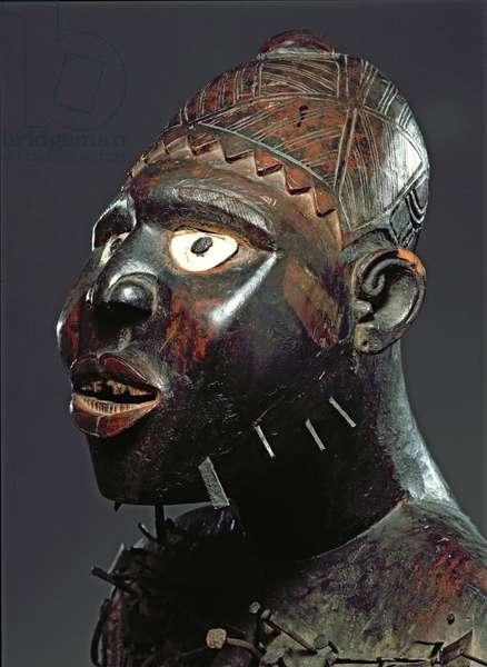 Mangaaka Figure, Kongo Culture, from Cabinda Region, Democratic Republic of Congo or Angola (wood & iron) (see also 193985-986)