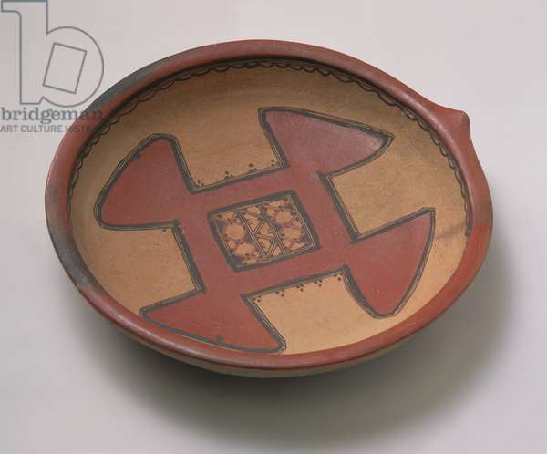 Couscous dish, early 20th century (painted terracotta)