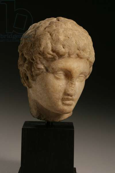 Head of a prince, Hellenistic period, 4th-3rd century BC (marble)