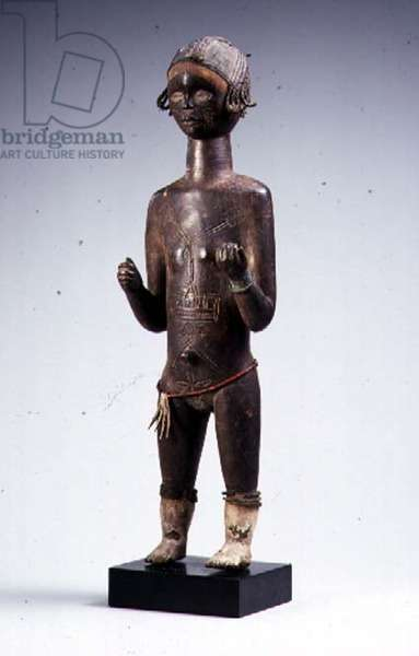 Female figure, Bete, Ivory Coast, 20th century (wood)