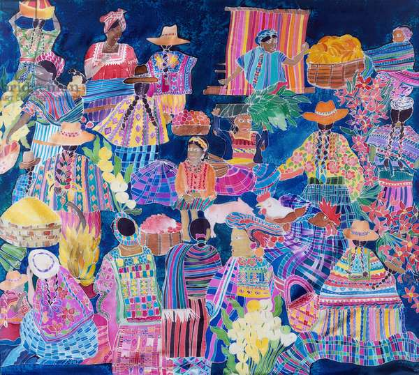 Guatemala Impressions (coloured inks on silk)